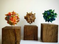 Klots on wood